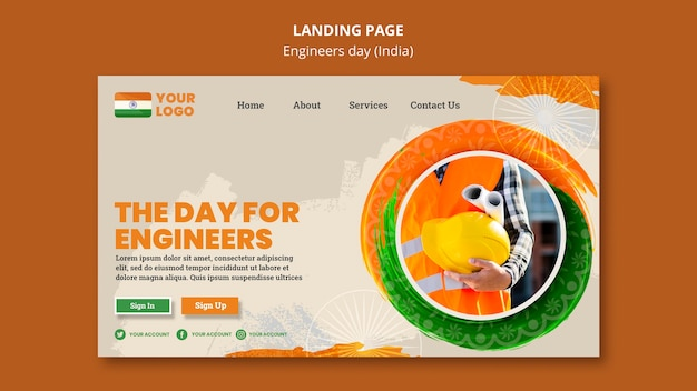 Landing page for engineers day celebration