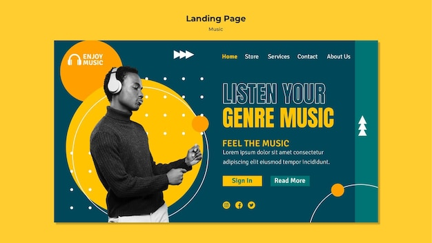 Landing page for enjoying music