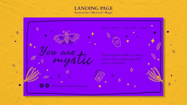 Landing page esotericism ad template