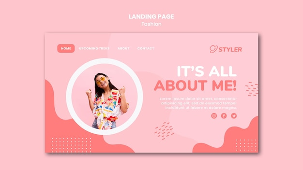 Landing page fashion ad template