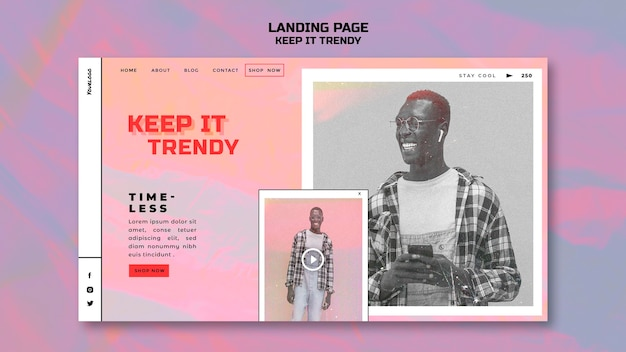 Landing page fashion store template