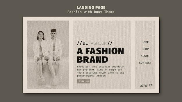 Landing page for fashion store