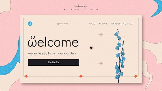 Landing page for flower garden