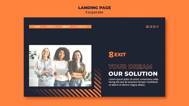 Целевая страница для бизнес-корпорации