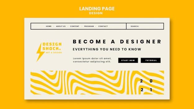 그래픽 디자인 과정의 방문 페이지 무료 PSD 파일