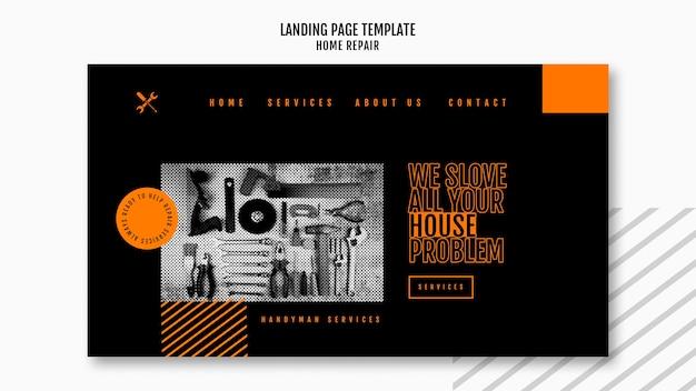Целевая страница компании по ремонту домов