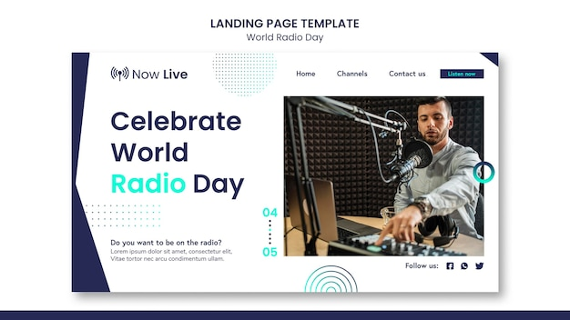 Целевая страница всемирного дня радио