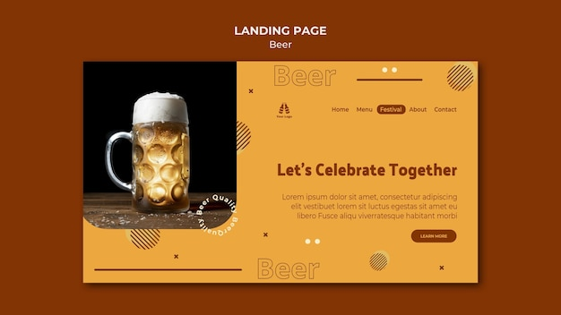 Landing page for fresh beer