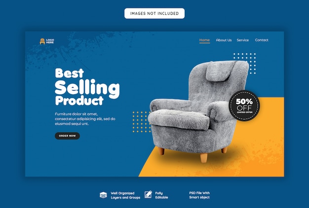 Landing page header template