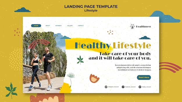 Landing page for healthy lifestyle