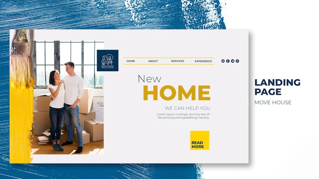 Landing page for home relocation services