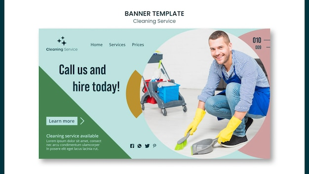 Landing page for house cleaning company