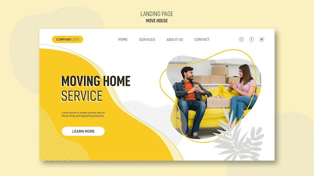 Landing page for house relocation services