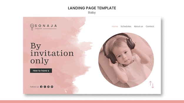 Landing page for kids daycare