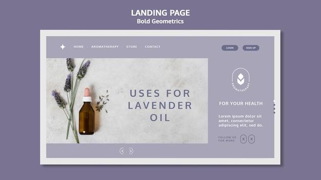 Landing page lavender oil template