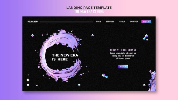 Landing page liquid design template