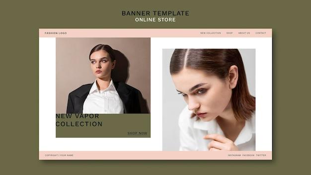 Pagina di destinazione per negozio di moda online minimalista