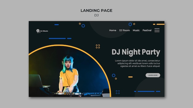 Landing page for music festival