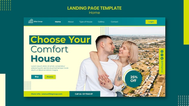 Landing page for new family home Free Psd