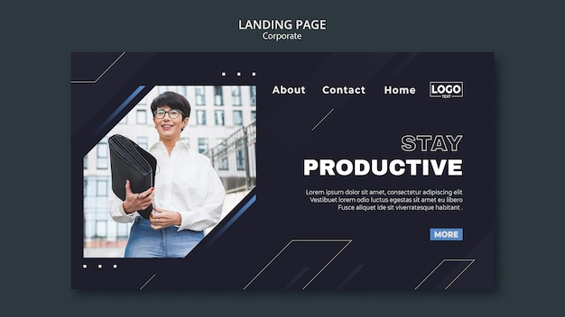 Landing page for professional business corporation