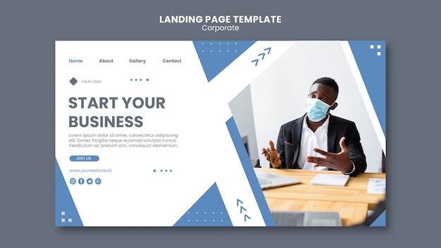 Landing page for professional business
