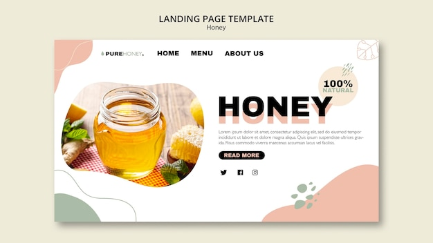 Landing page for pure honey