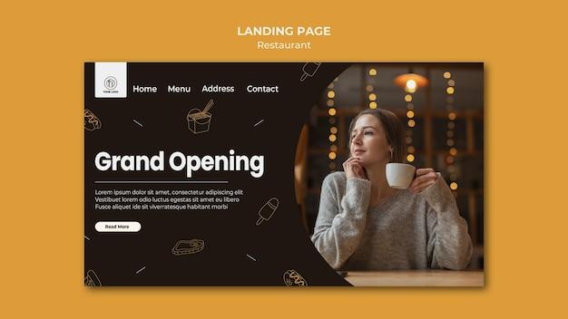 Landing page restaurant template