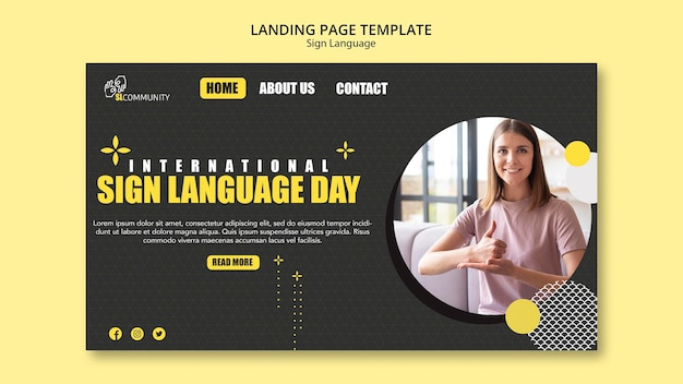 Landing page for sign language communication
