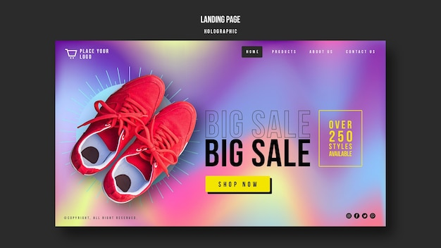 Landing page sneakers sale template