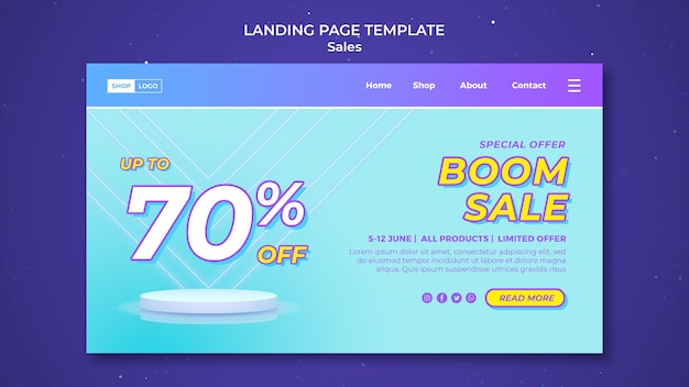 Landing page for super sale