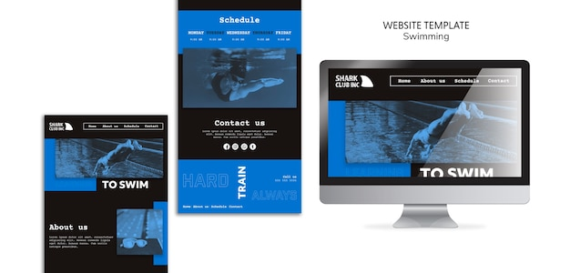 Landing page swimming club template