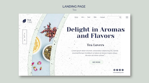 Landing page for tea time