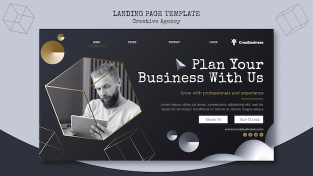 Landing page template for business partnering company