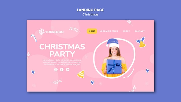 Landing page template for christmas party