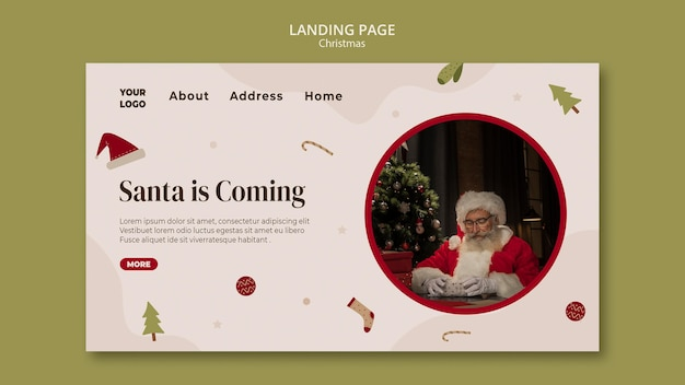 Landing page template for christmas shopping sale