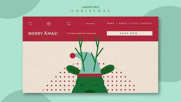 Landing page template for christmas