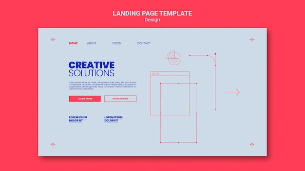 Landing page template for creative business solutions Free Psd