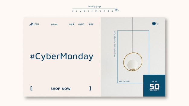 Landing page template for cyber monday shopping