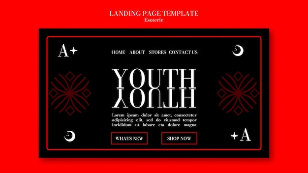Landing page template for esoteric mysticism