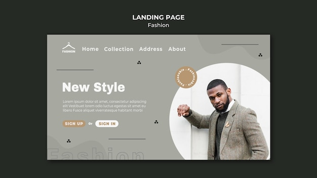 Landing page template fashion store