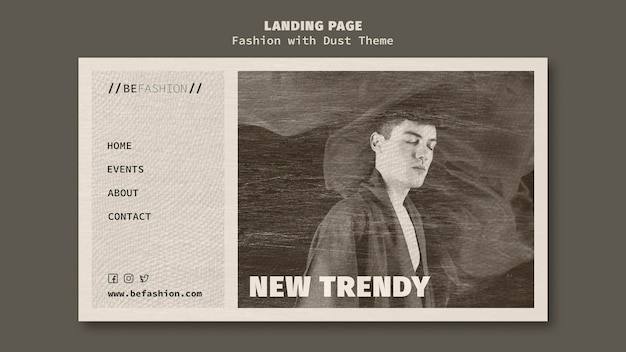 Landing page template for fashion store