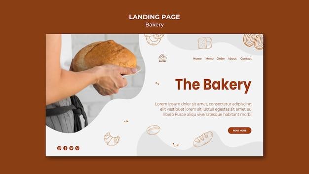 Шаблон целевой страницы для магазина выпечки хлеба