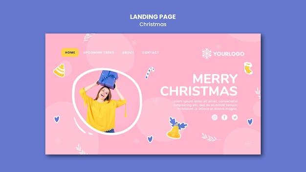 クリスマスのランディングページテンプレート Premium Psd