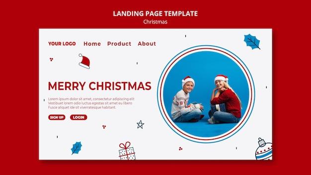 Шаблон целевой страницы на рождество