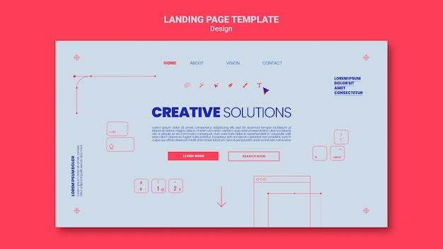 クリエイティブなビジネスソリューションのランディングページテンプレート