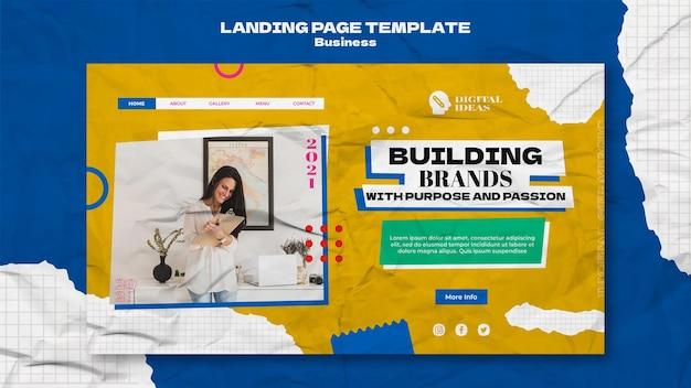 창의적인 비즈니스 솔루션을 위한 방문 페이지 템플릿