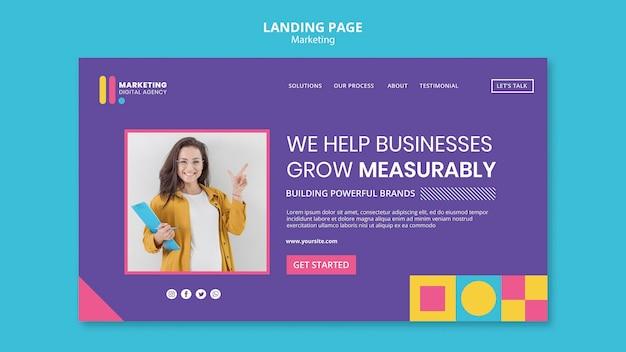 クリエイティブマーケティングエージェンシーのランディングページテンプレート