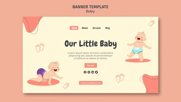 국제 아기의 날을위한 방문 페이지 템플릿