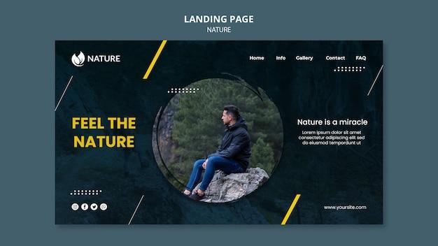 자연 보호 및 보존을위한 방문 페이지 템플릿