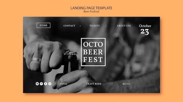 Octobeerfest에 대한 방문 페이지 템플릿